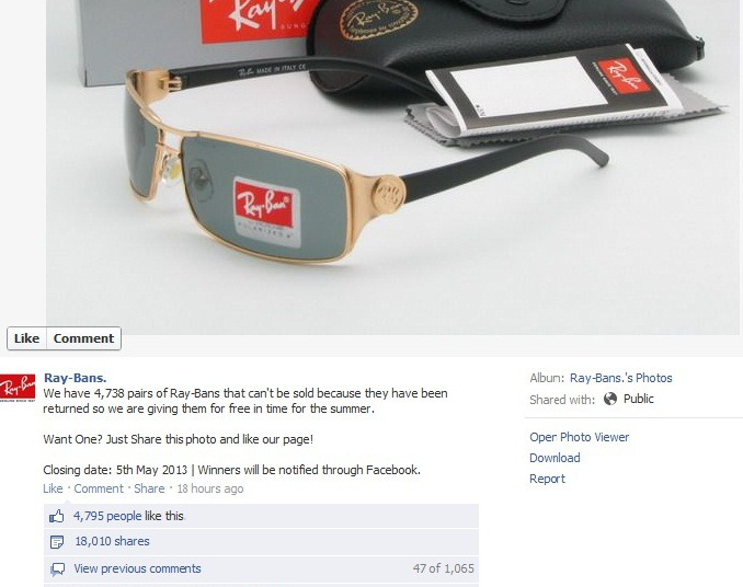 ray ban sunglasses outlet facebook  ray ban sales facebook